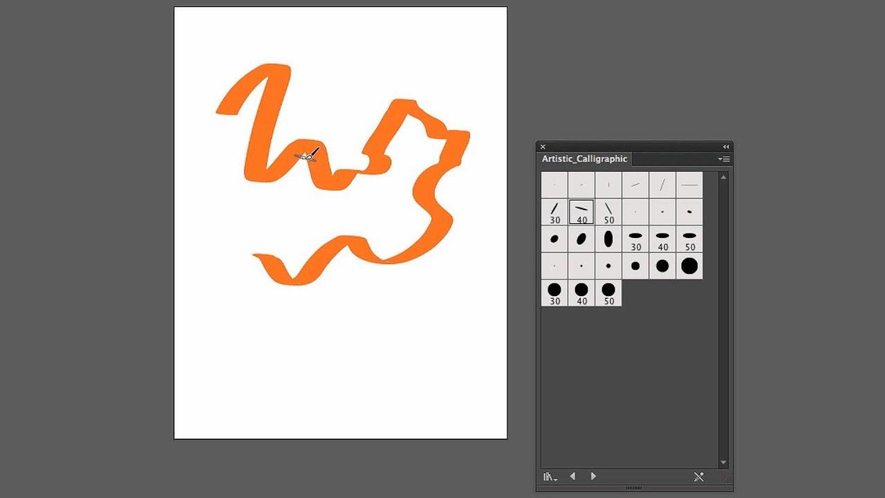 How to use calligraphic brushes adobe illustrator youtube