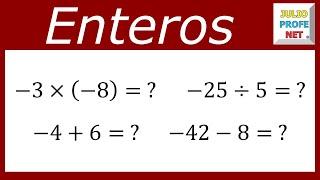 Matemáticas 2º ESO: Operaciones con números enteros