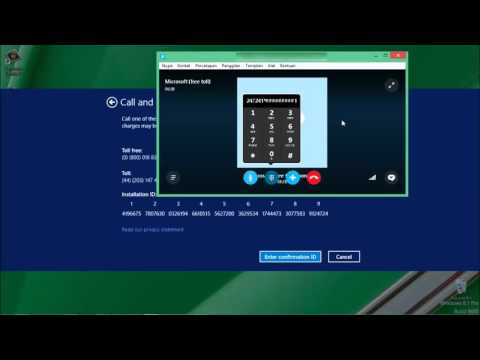Cara aktivasi dengan Skype Win 8.1 build 9600