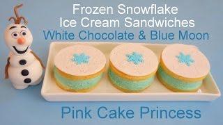 Frozen Ice Cream Sandwiches! White Chocolate & Blue Moon Ice Cream Recipe by Pink Cake Princess