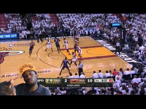 Indiana Pacers  vs  Miami Heat  Game 4 Nba Playoffs 2014 Bosh Shows up Big !  heat Win 3-1 Reaction
