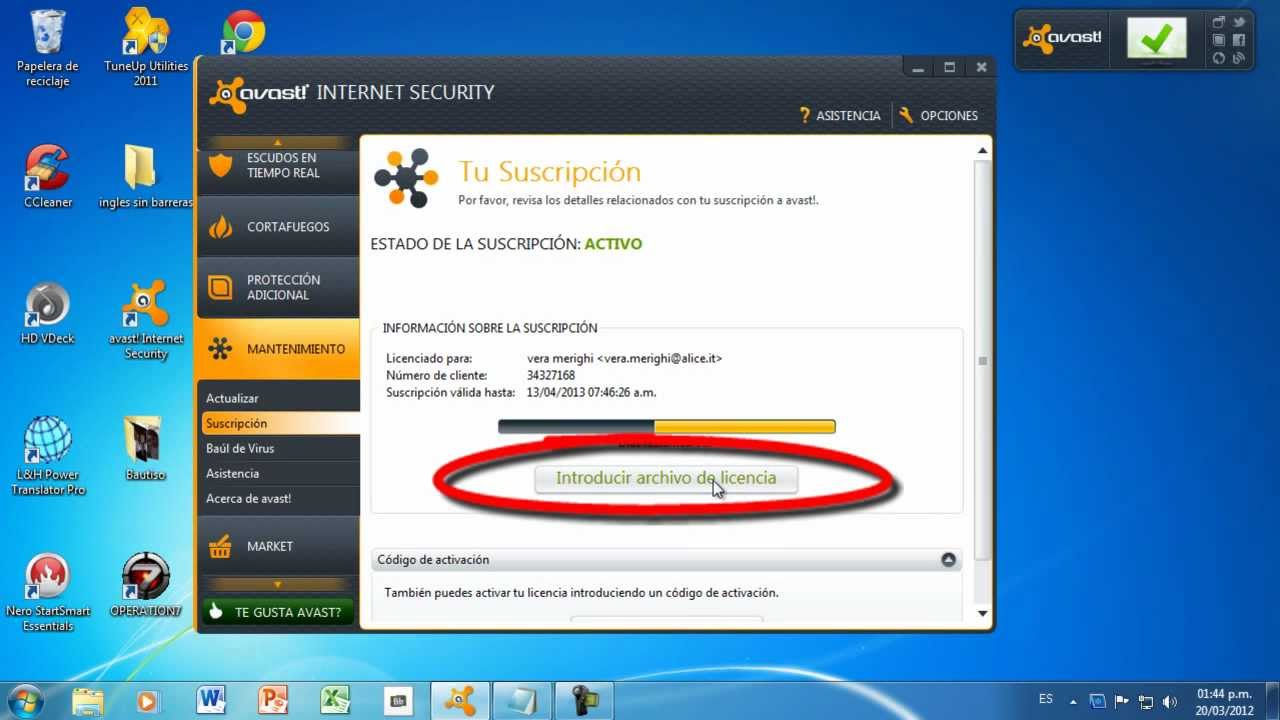 descargar licencia para avast internet security
