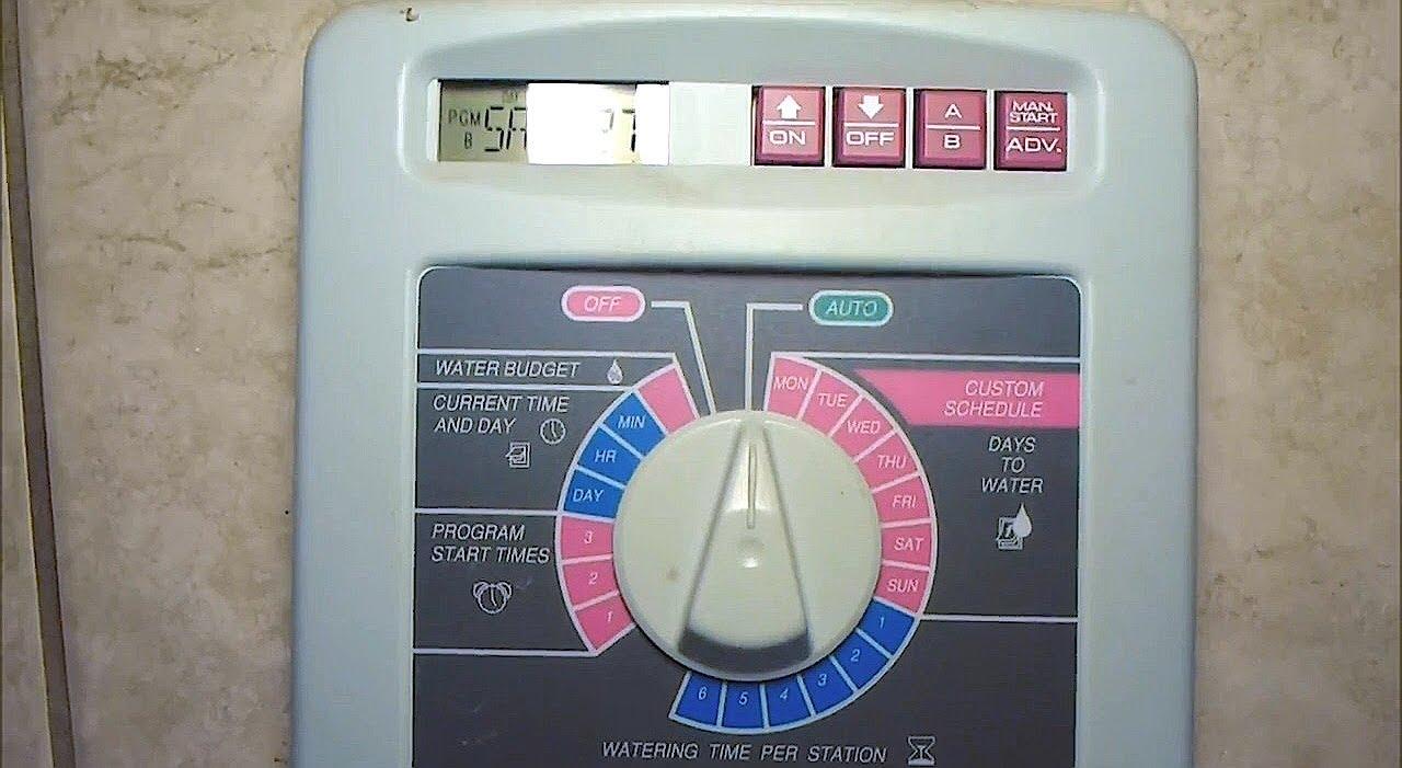 irrigation timer wiring diagram