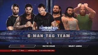 WWE 2K14 The Shield Vs The Wyatt Family Elimination Chamber