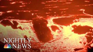 Fiery Kilauea Volcano Continues To Spout Lava On Hawai'i | NBC Nightly News