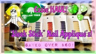 "Dollar Tree Haul: Essie ""Sleek Stick"" Nail Appliqué's"