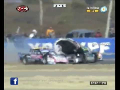 Oubiña,Fontana and Alaux Crash @ 2013 TC San Luis