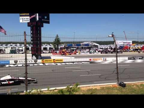 Indy 500 pit stop Pocono 2014