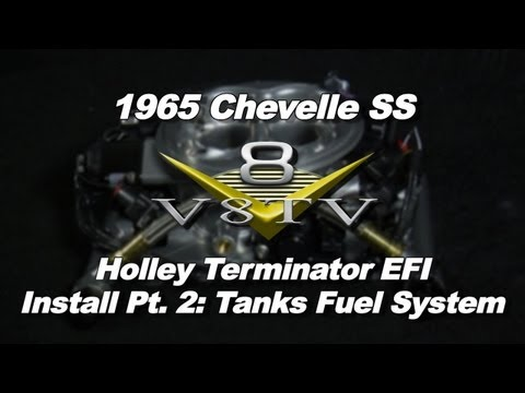Holley Terminator EFI System Install Video Part 2 V8TV 1965 Chevelle S