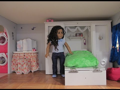 american girl doll house tour update also a trash can
