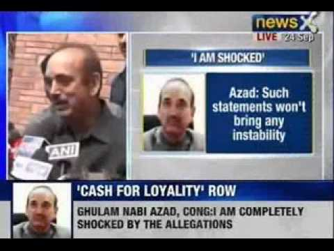 NewsX: Ghulam Nabi Azad compeletly shocked by allegations of Indian Army General VK Singh