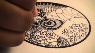 Let's Draw 001: How To Draw Zentangles (Doodle Art