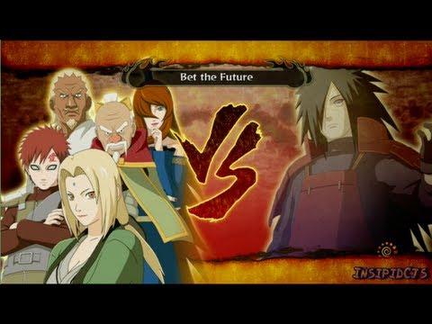 Naruto Ultimate Ninja Storm 3 Tsunade (Five Kage) Vs Madara Uchiha S-Rank Legend (English)