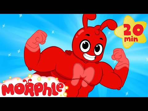 Super Hero Morphle and Mila  Funny Superheroes videos for kids + car truck and dinosaur cartoons