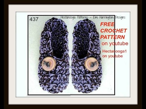 HOW TO CROCHET ADULT SLIPPERS