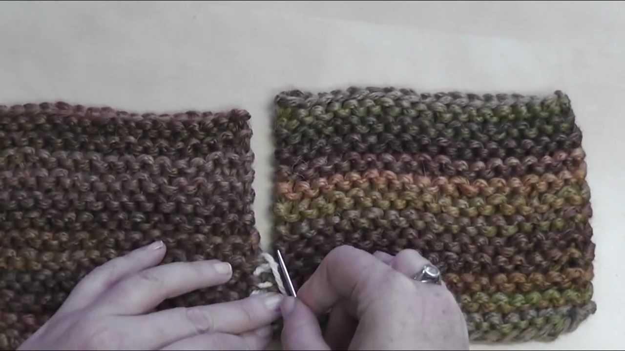Knitting Joining Seams Garter Stitch : How to seam garter stitch youtube