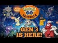 GEN 3 IS OUT NOW POKEMON GO HALLOWEEN EVENT FREE MIMIKYU Day 1 Part 1