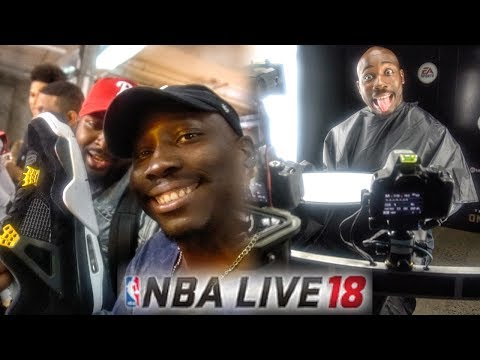 I GOT SCANNED INTO NBA LIVE 18 & OPENING JORDAN SHOES IN NEW YORK!