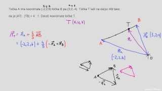 Določanje koordinate točke z vektorji