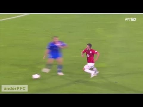 Simunic vs. Sulejmani - Brutal foul - Red Card Simunic (Serbia vs. Croatia 1-1, 06/09/13)