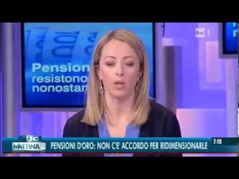 Giorgia Meloni interviene ad uno mattina sul taglio delle pensioni d'oro
