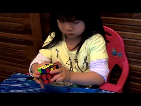 2 years old Youngest Rubik's Cube Solver :70 seconds