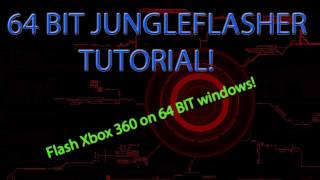HOW TO Flash An Xbox 360 On 64 BIT PC Jungleflasher And