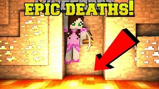 Minecraft: WORLD'S MOST EPIC DEATHS! (WAYS TO DIE WOULD YOU RATHER!) Mini-Game