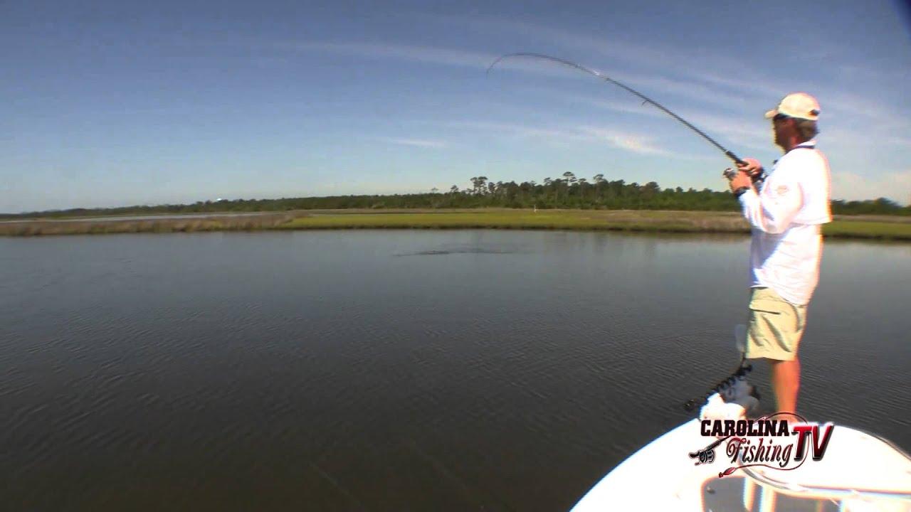 Carolina fishing tv season2 12 topsail island redfish for Carolina fishing tv