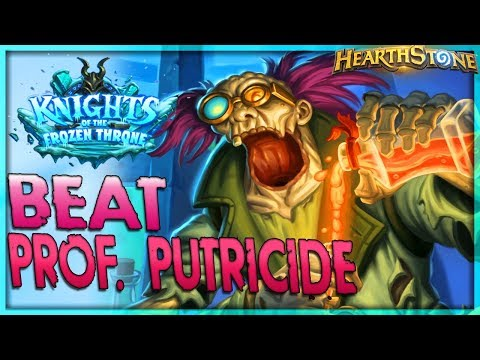 How to beat Professor Putricide - Solo Adventure 🌟 HEARTHSTONE  | Frozen Throne Legend