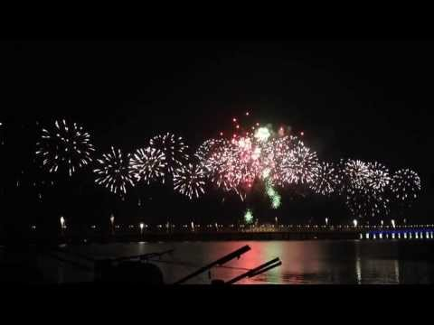 Fireworks show for the opening of 2nd penang bridge
