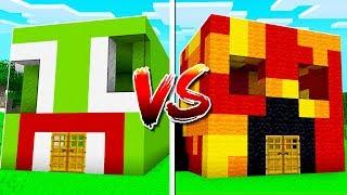 UNSPEAKABLE HOUSE vs PRESTON HOUSE IN MINECRAFT!