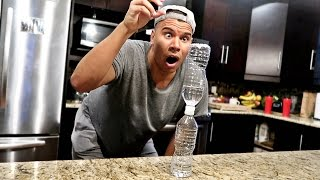 IMPOSSIBLE WATER BOTTLE FLIP TRICK SHOTS!!
