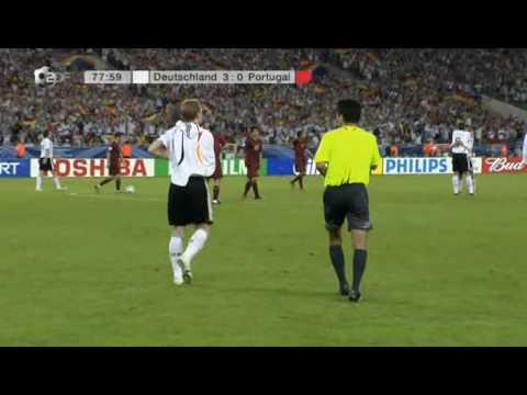 Fussball Fifa Wm 2006   Spiel 62   Tore Goals   Spiel Um Platz 3 Deutschland Portugal   Tor 3 0 By Bastian Schweinsteiger Zdf -SnBBbTYV1Bs