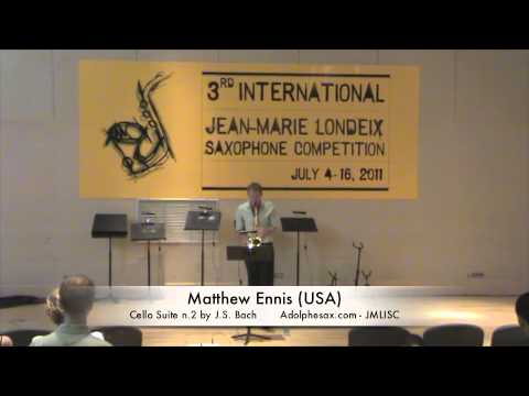 3rd JMLISC: Matthew Ennis (USA) Cello Suite n.2 by J.S. Bach