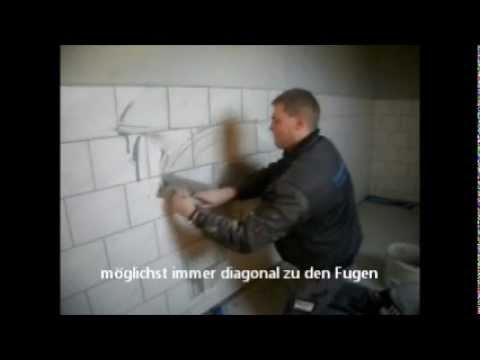 Keramische wand und bodenfliesen verfugen anleitung youtube - Fliesen verfugen trockenzeit ...