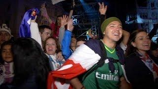 أنصار ريال مدريد يحتفلون