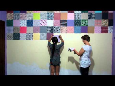 DIY: Parede de patchwork, do atelier da Bia!, Um resuminho de como eu fiz a parede do meu atelier, exige bastante tempo, paciência e uma ajudinha de outra pessoa, mas o resultado fica lindo! http://www.f...