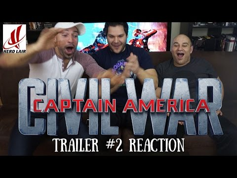 Captain America CIVIL WAR Trailer 2 REACTION