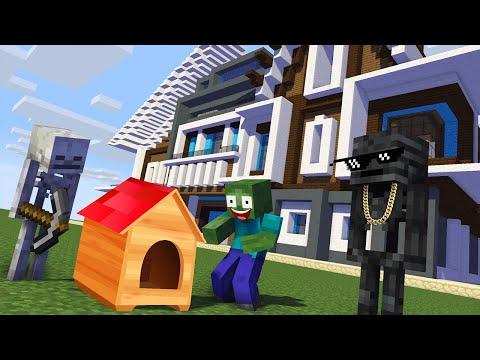 Monster School : BUILDING HOUSE Challenge - Minecraft Animation