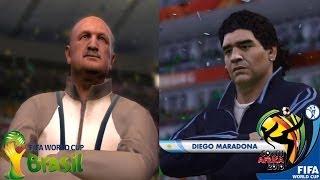 FIFA 2014 Vs FIFA 2010 World Cup Comparison (Maradona