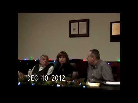 Chazy Town Board Meeting 12-10-12