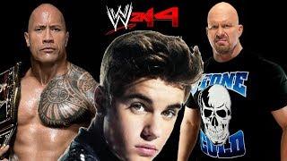 WWE 2K14: The Rock VS Stone Cold Steve Austin VS Justin