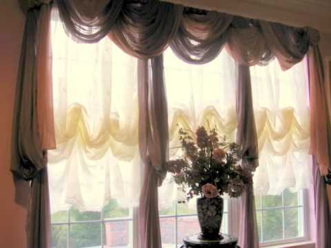 Window Scarves That Are Easy To Hang Youtube
