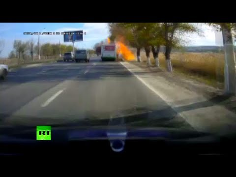 Dash Cam Video: Moment of deadly bus blast in Volgograd caught on camera