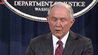 LIVE STREAM: Attorney General Jeff Sessions holds Press Conference on Russia (2/3/2017) LIVE SPEECH