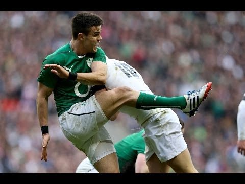 Late shoulder charge by Owen Farrell on Conor Murray - England v Ireland 22nd Feb 2014