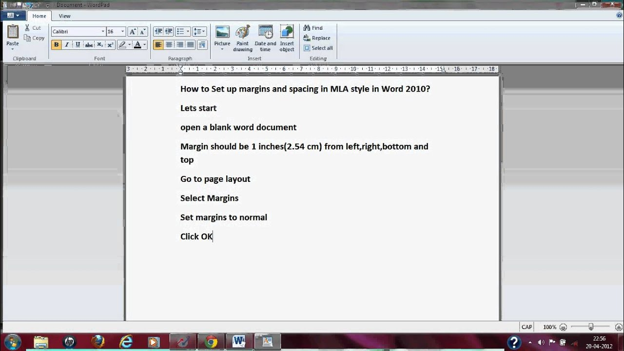 mla format for microsoft word