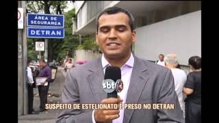 Suspeito de estelionato � preso no Detran da Capital