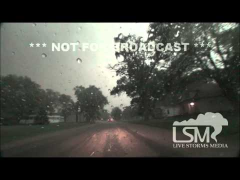 6/3/14 Belgrade, NE; Rain Wrapped Tornado and RFD Winds *Nick Slone HD*